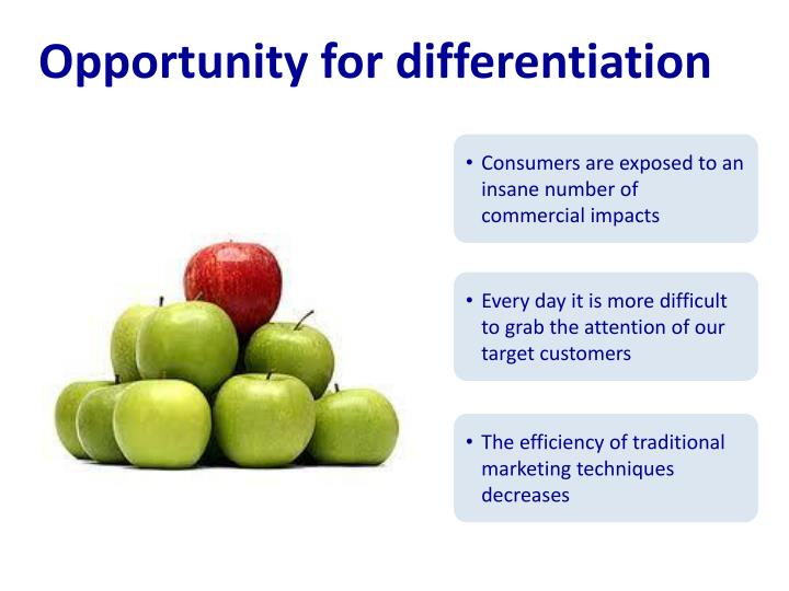 Opportunity for differentiation