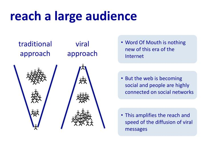 reach a large audience