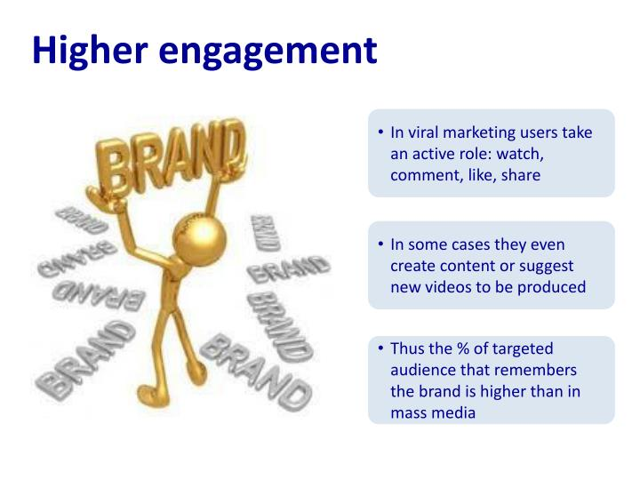 Higher engagement