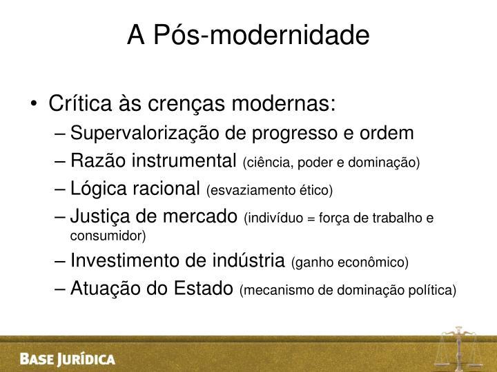 A Pós-modernidade