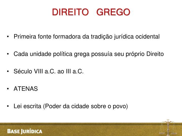 DIREITO   GREGO