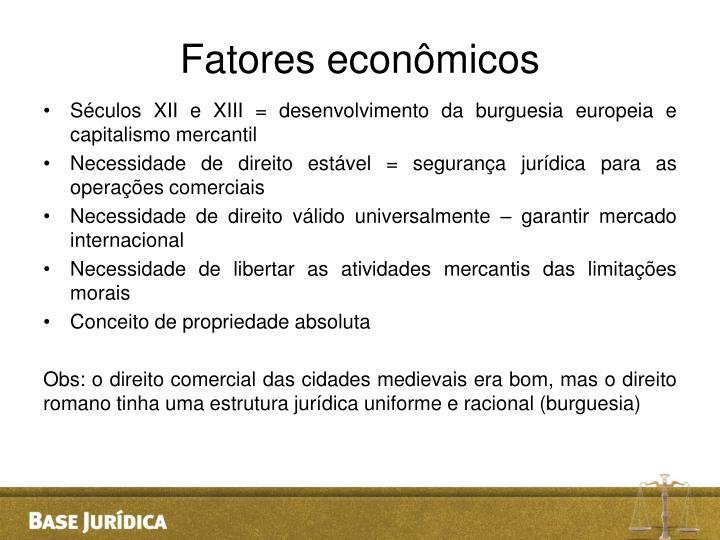 Fatores econômicos
