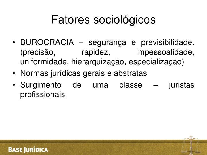 Fatores sociológicos