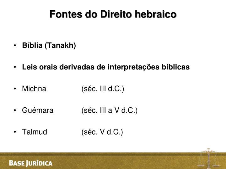 Fontes do Direito hebraico
