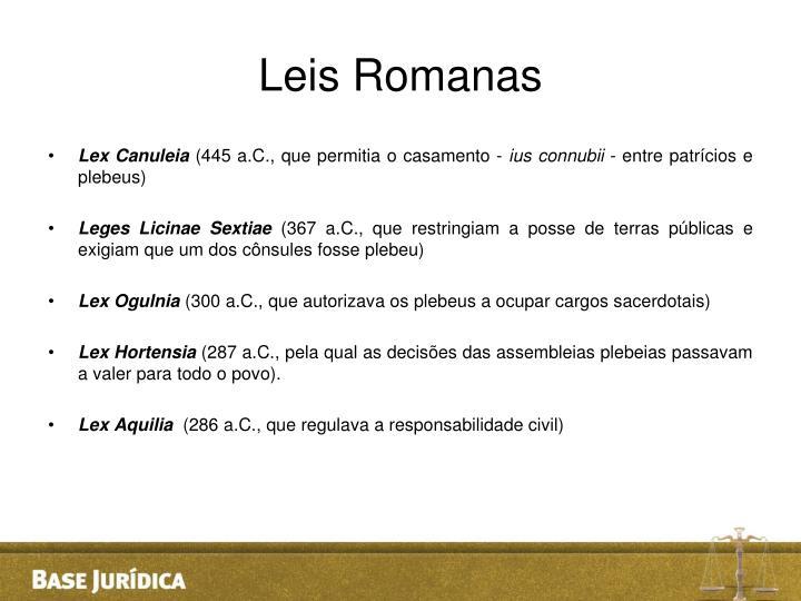 Leis Romanas