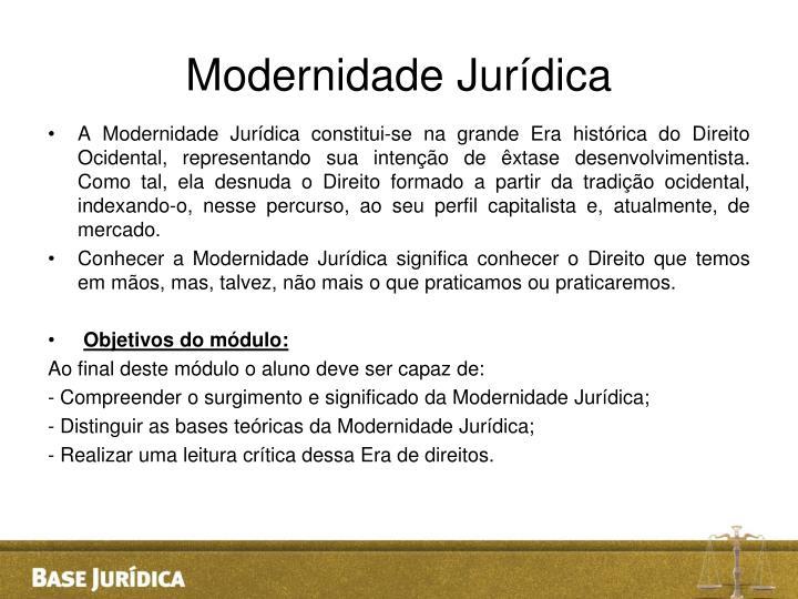 Modernidade Jurídica
