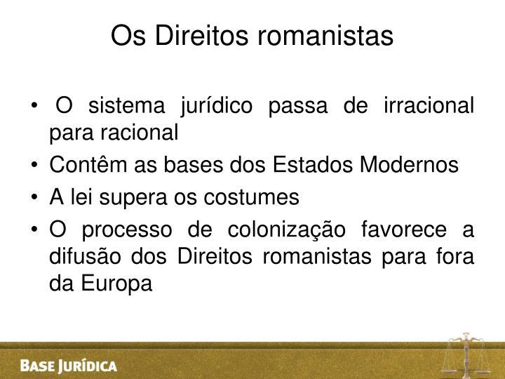 Os Direitos romanistas