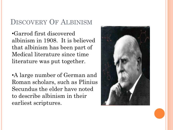 Discovery Of Albinism