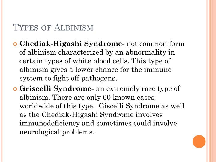 Types of Albinism