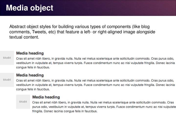 Media object