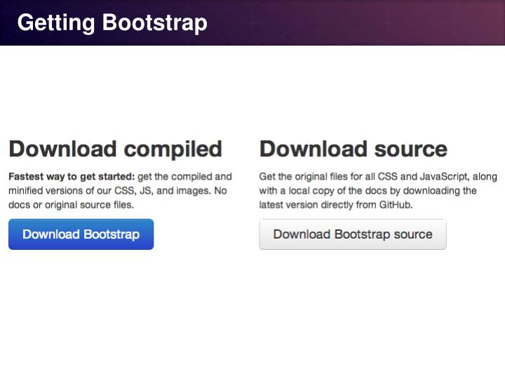 Getting Bootstrap