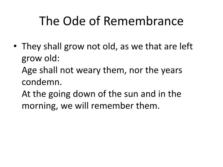 The Ode of Remembrance