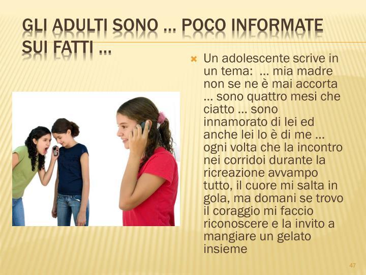 Gli adulti sono  poco informate sui fatti