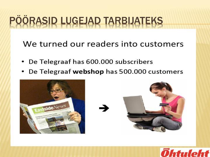 Pöörasid lugejad tarbijateks