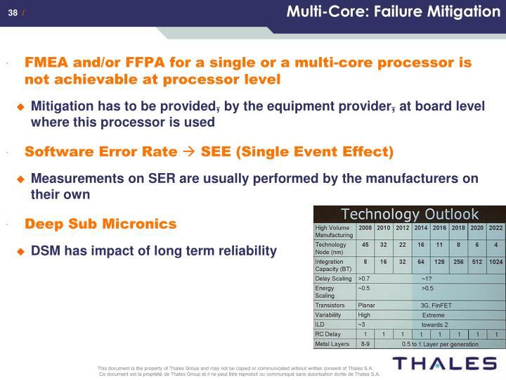 Multi-Core: Failure Mitigation