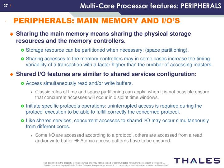 Multi-Core Processor features: PERIPHERALS