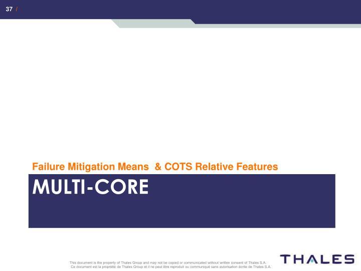 Failure Mitigation Means  & COTS Relative Features