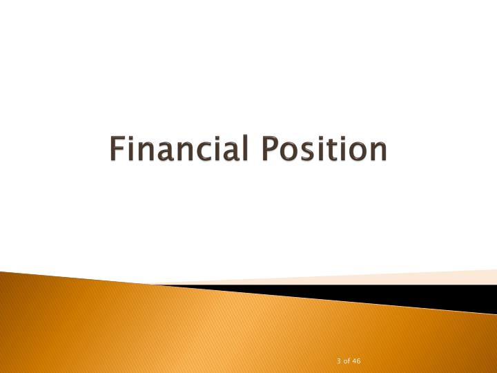 Financial position