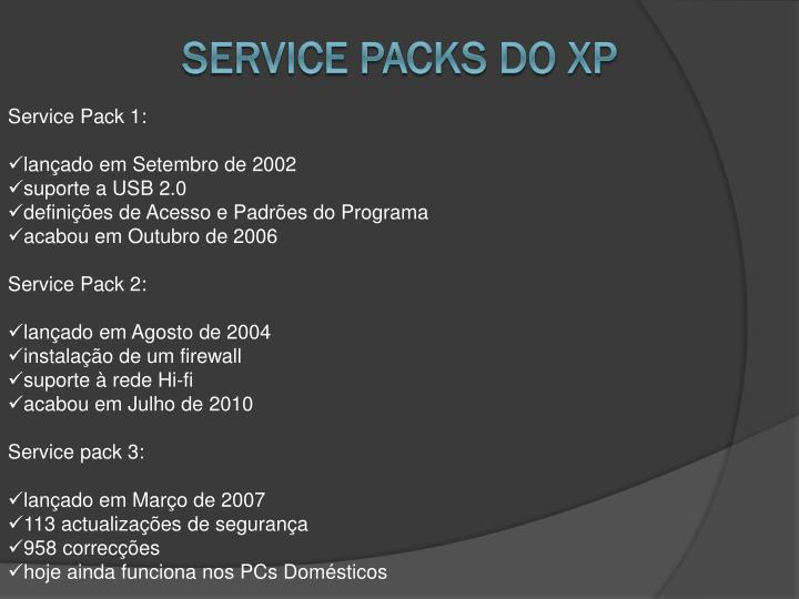 Service Packs do Xp