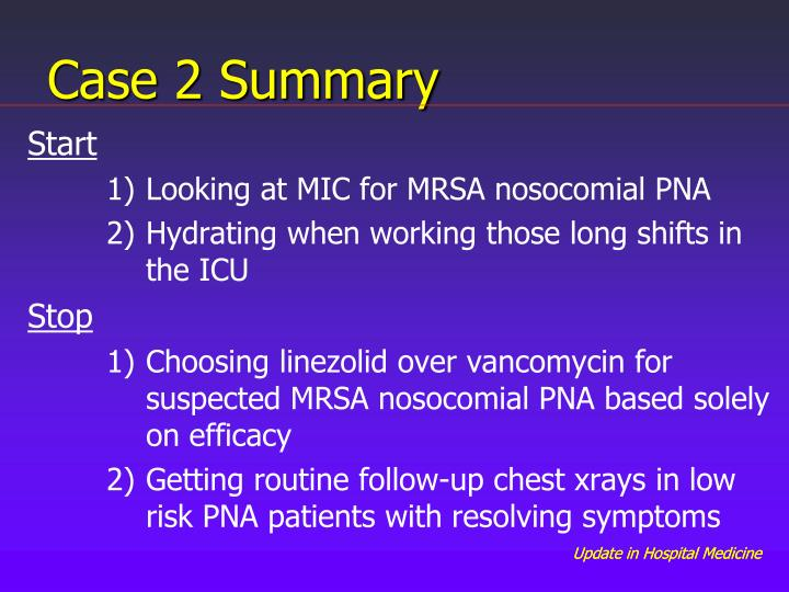 Case 2 Summary