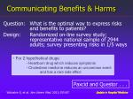 communicating benefits harms