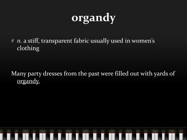 organdy