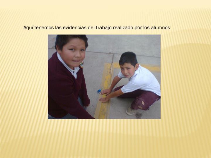 Aquí tenemos las evidencias del trabajo realizado por los alumnos