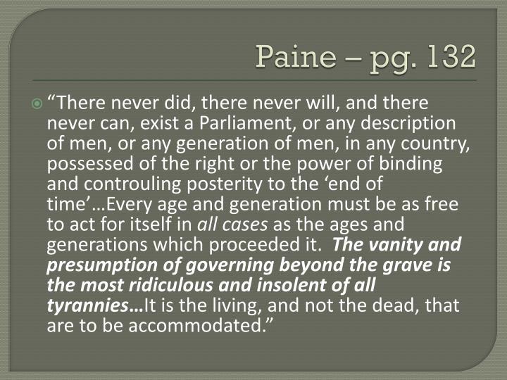 Paine – pg. 132