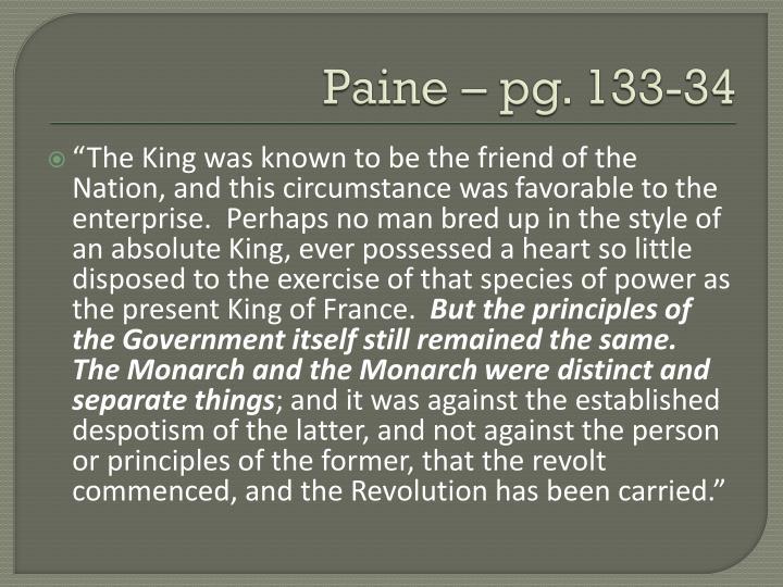 Paine – pg. 133-34