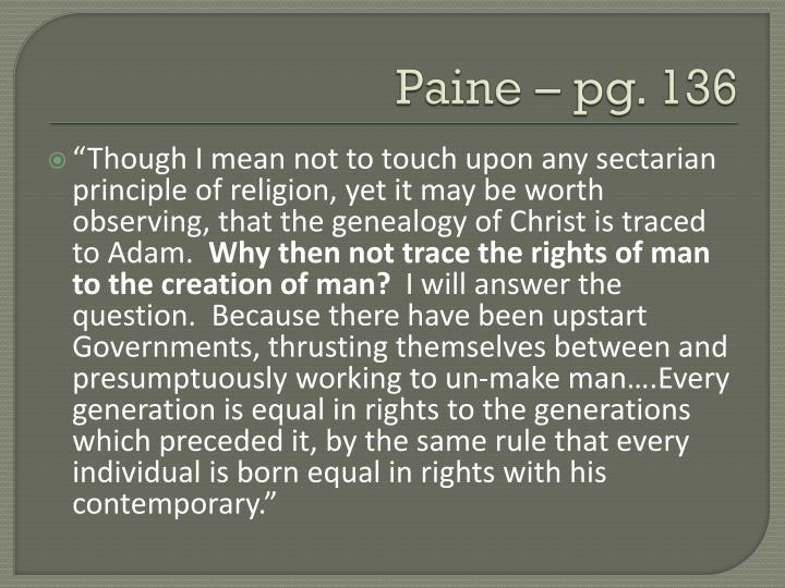 Paine – pg. 136