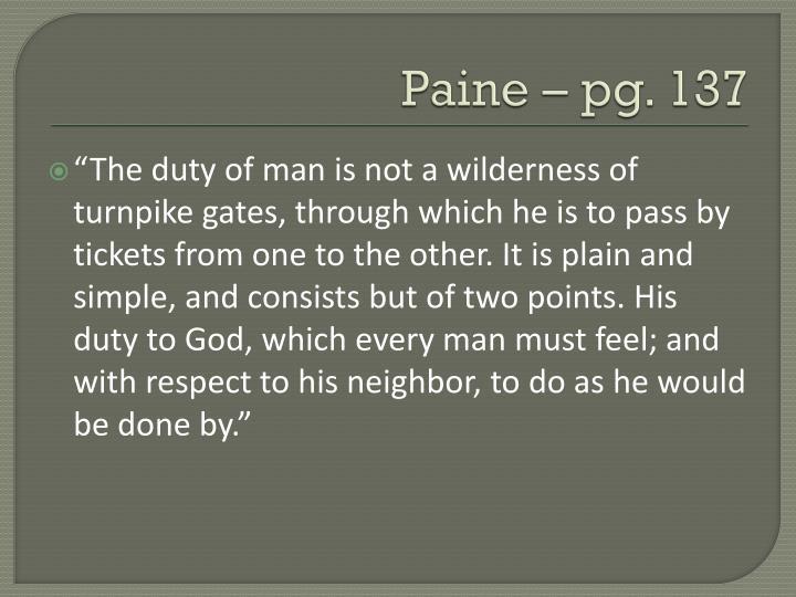 Paine – pg. 137