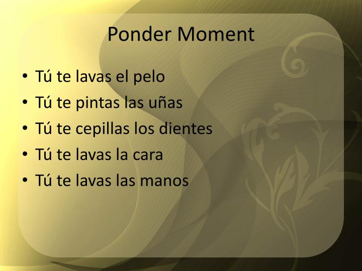 Ponder Moment