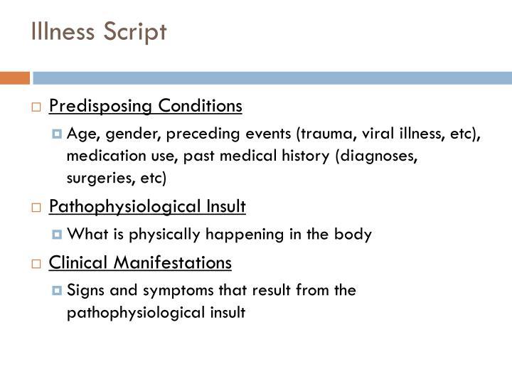 Illness Script