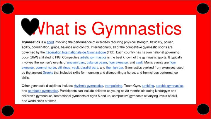 What is Gymnastics