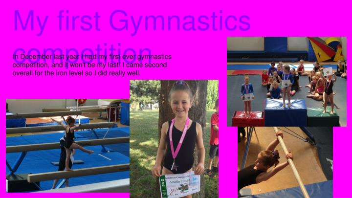 My first Gymnastics competition