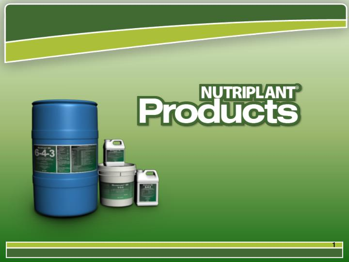 Nutriplant sd sl seed treatment nutriplant ag foliar nutrition
