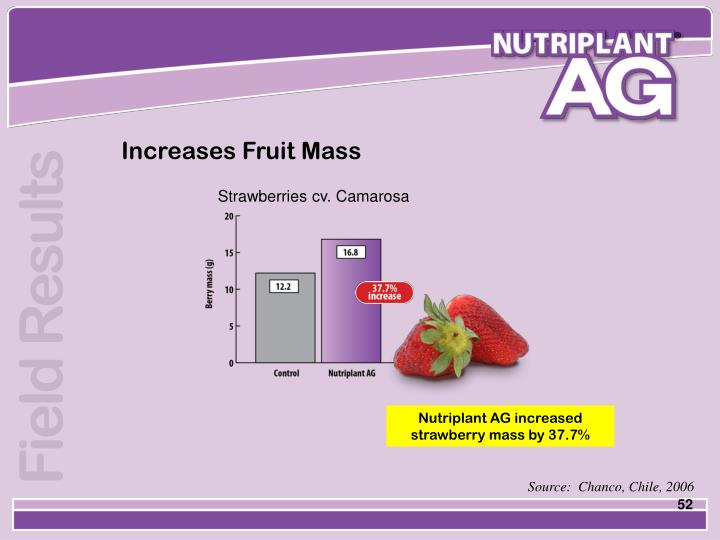 Increases Fruit Mass