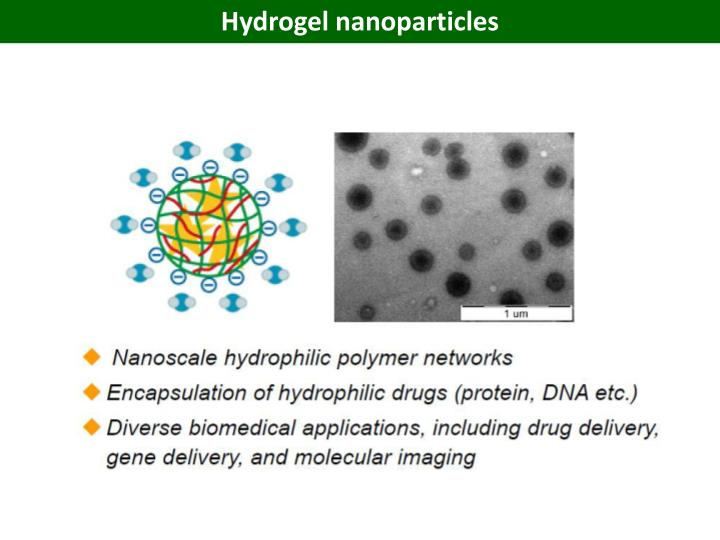 Hydrogel nanoparticles