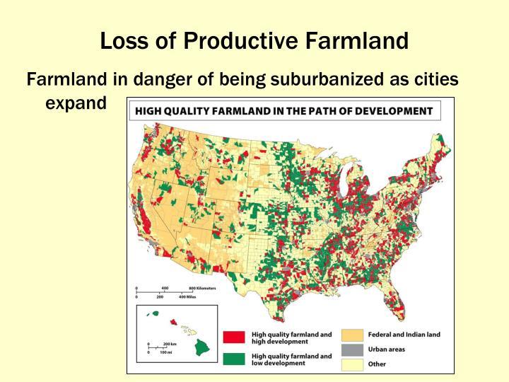 Loss of Productive Farmland