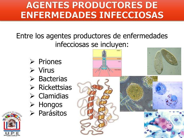 AGENTES PRODUCTORES DE ENFERMEDADES INFECCIOSAS