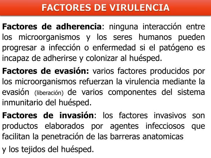 Factores de adherencia