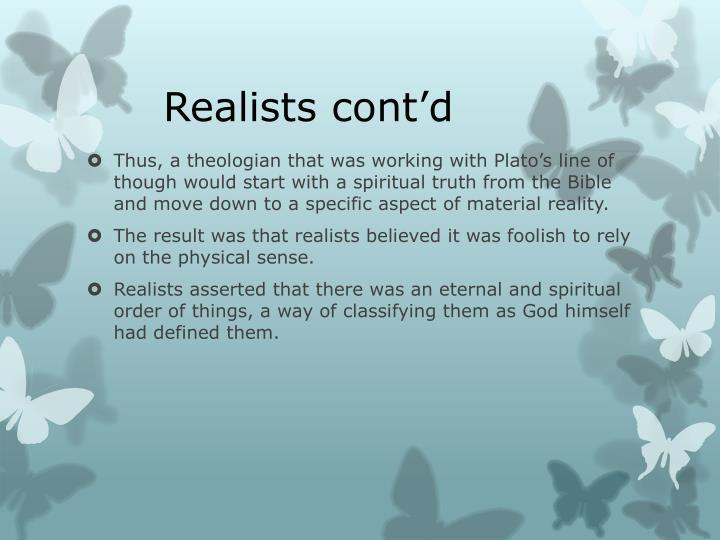 Realists cont'd