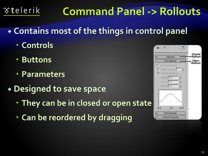 Command Panel -> Rollouts