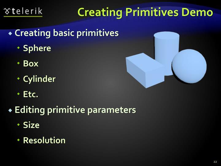 Creating Primitives Demo