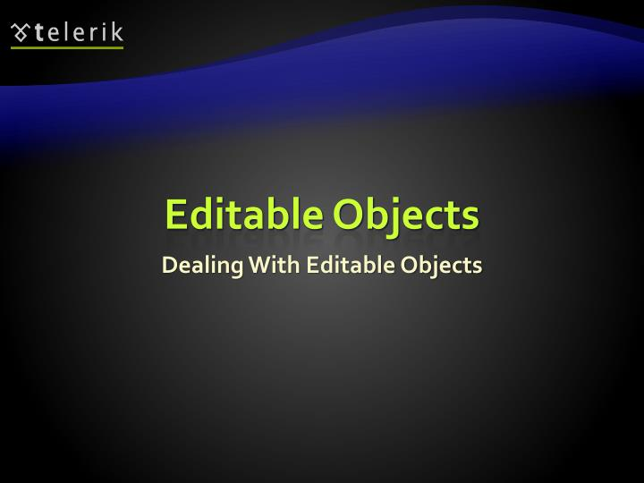 Editable Objects