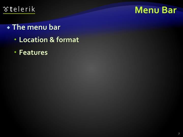 Menu Bar