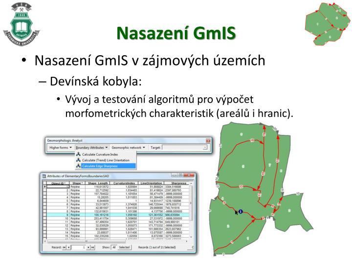 Nasazení GmIS