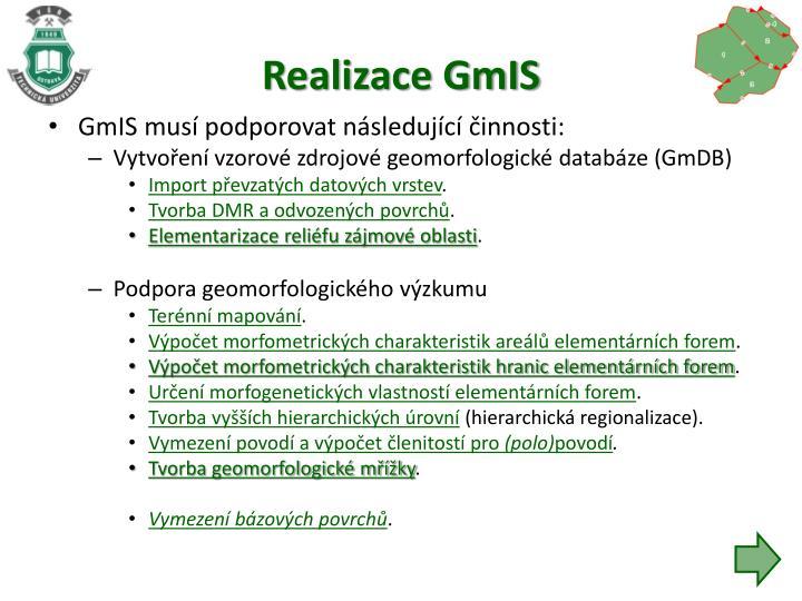 Realizace GmIS