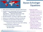 dyson schwinger equations