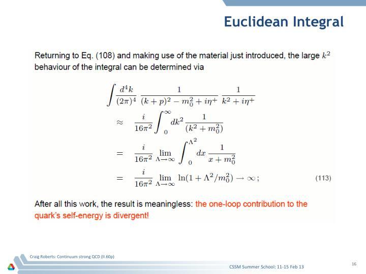 Euclidean Integral